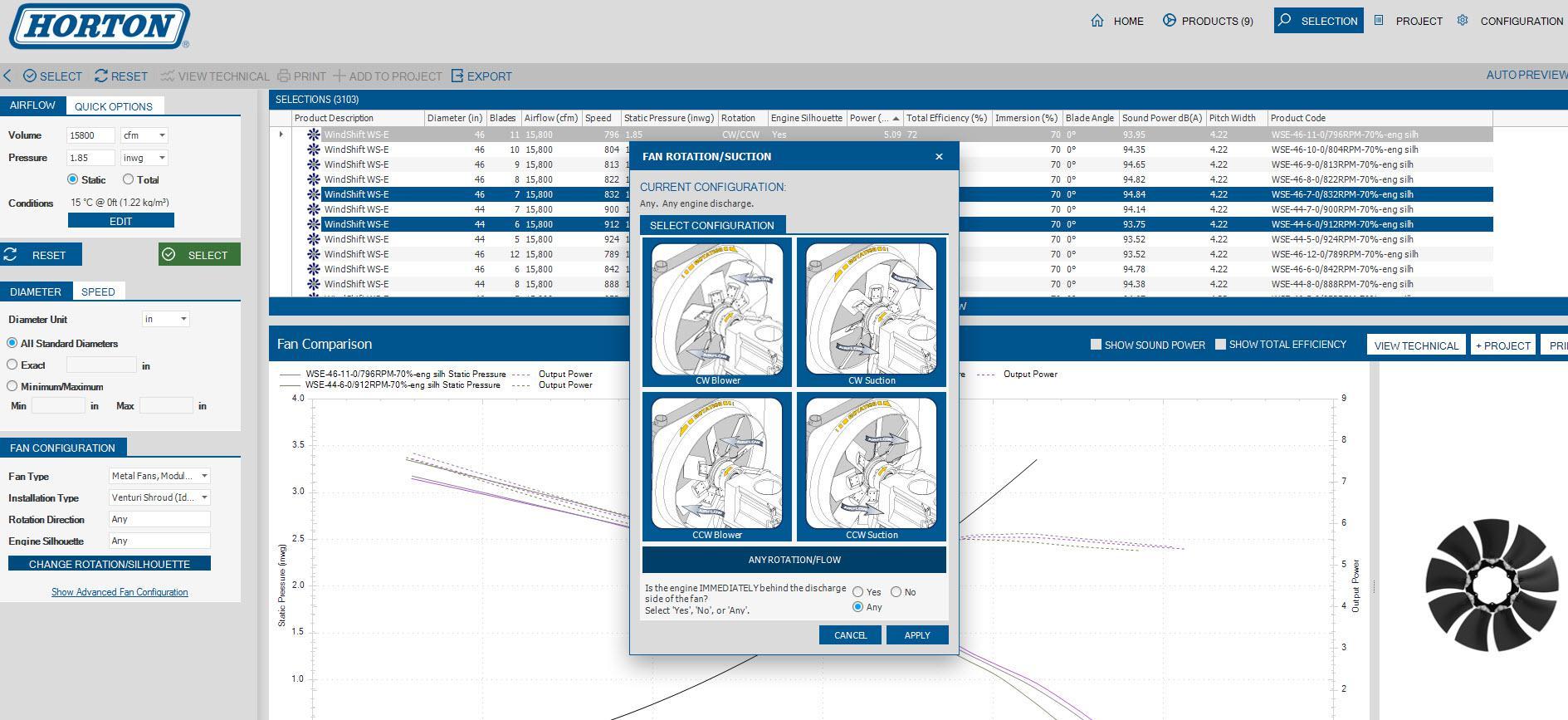 Erev System Configuration Software Engine Cooling Fans