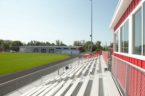 Britton, SD bleachers at running track and event center