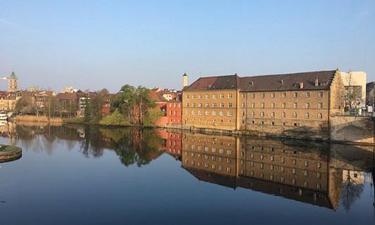 Schweinfurt, Germany overlooking water